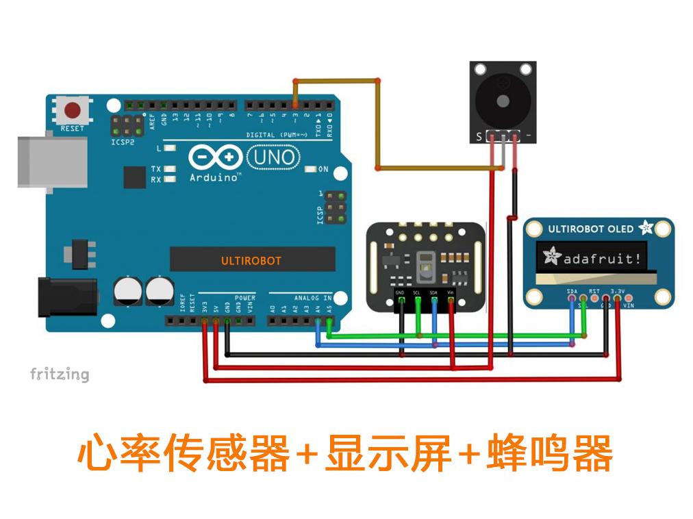 基于Arduino的在OLED12864上进行心率脉搏显示